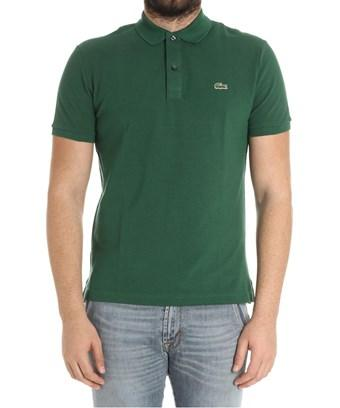 Lacoste Men's  Green Cotton Polo Shirt