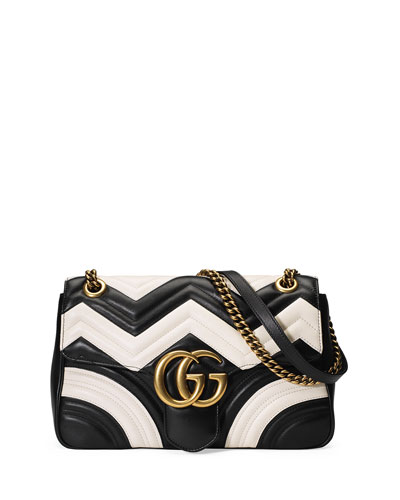 2bf59898bec Gucci Medium Gg Marmont 2.0 Leather Shoulder Bag - White In Eero ...