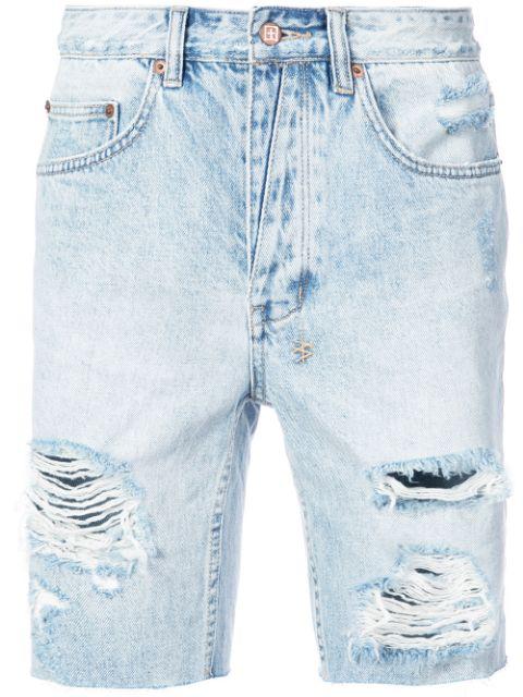 Ksubi Axel Short Dirty Harry Denim Shorts In Blue