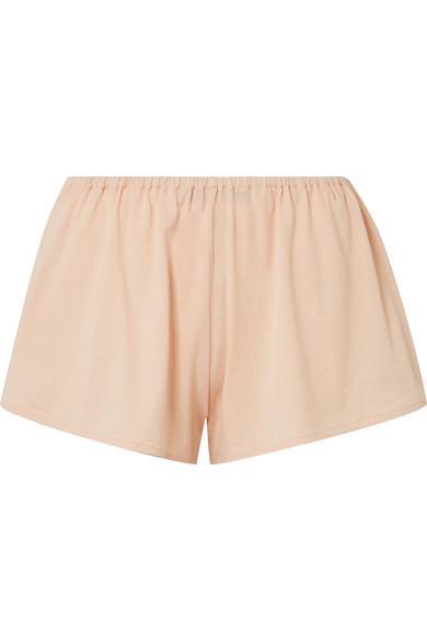 Skin Karlie Organic Pima Cotton-Jersey Pajama Shorts In Blush