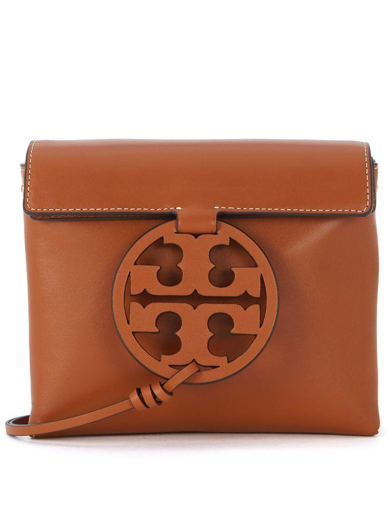 327df16d8 Tory Burch Miller Camel Brown Leather Shoulder Bag In Marrone