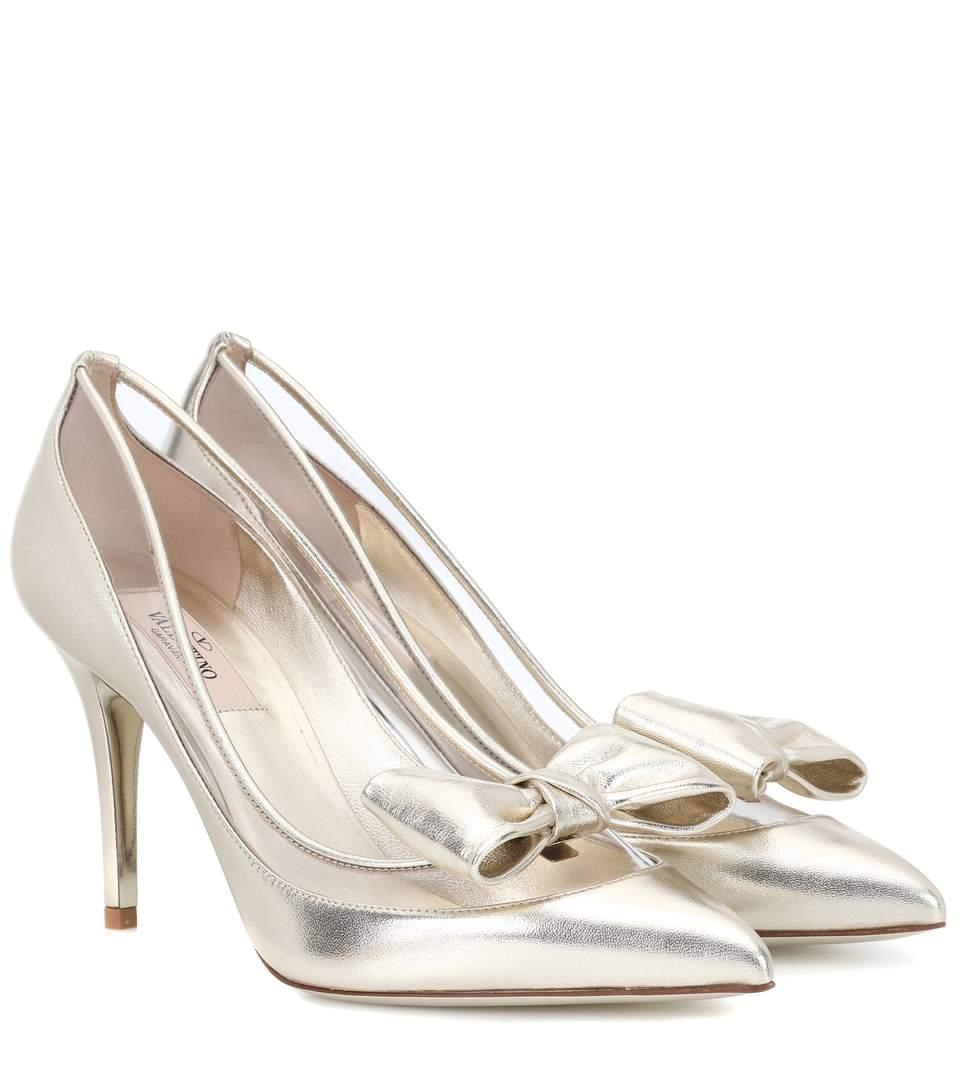 c69baddcf328d Valentino Dollybow Leather Pumps In Metallic | ModeSens