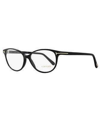 ecd86f5f36c Tom Ford Oval Eyeglasses Tf5421 001 Size  53Mm Black Gold Ft5421 ...