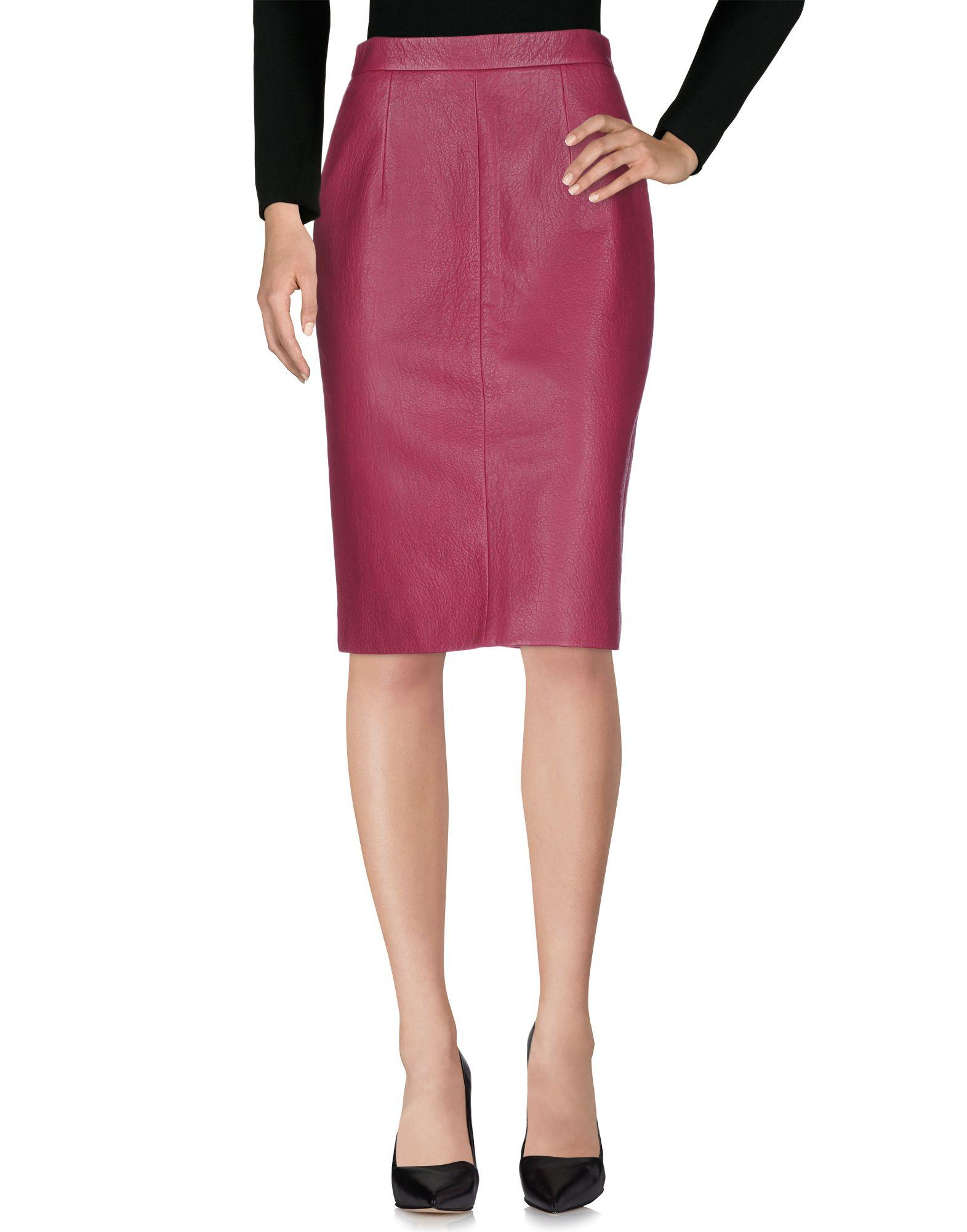 Miu Miu Knee Length Skirts In Garnet