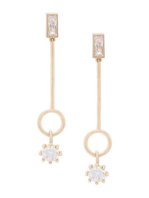 Eddie Borgo Baguette Estate Line Earrings In Metallic