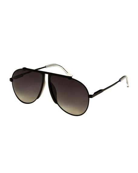 34e819a1bf6f Celine 62Mm Aviator Sunglasses - Matte Black  Gradient Smoke