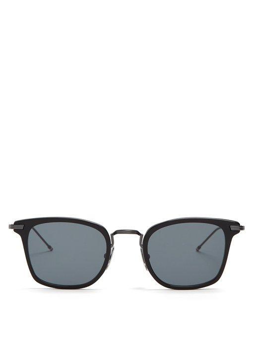 Thom Browne Square Frame Sunglasses In Black