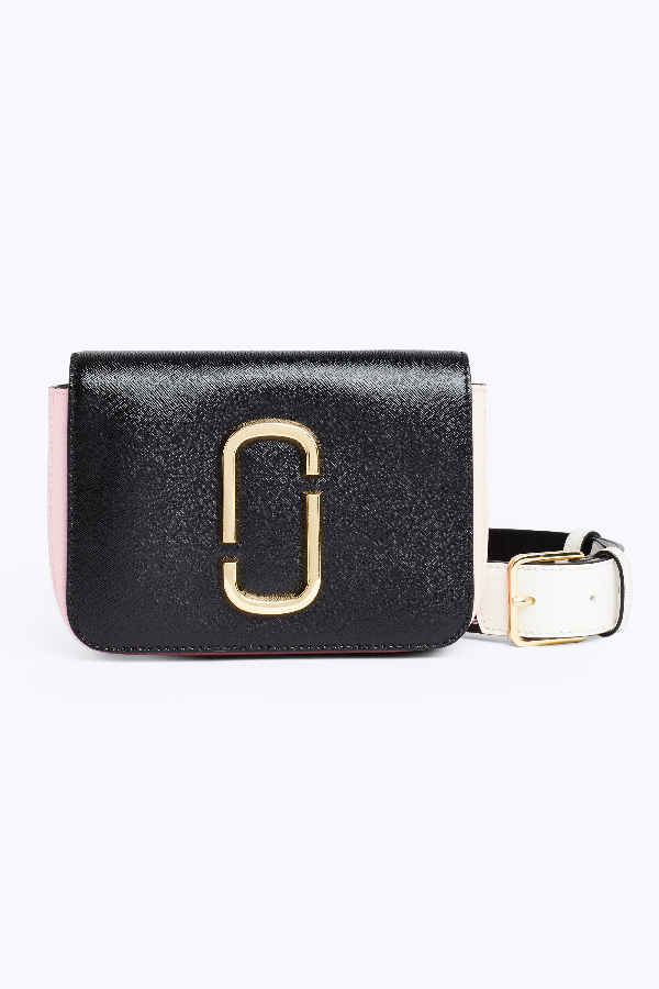 c8e828350c4f Marc Jacobs The Hip Shot Convertible Textured-Leather Belt Bag In Black