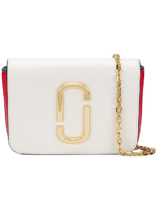 aec2ee3bcc38 Marc Jacobs The Hip Shot Convertible Color-Block Textured-Leather Belt Bag  In Multicolour