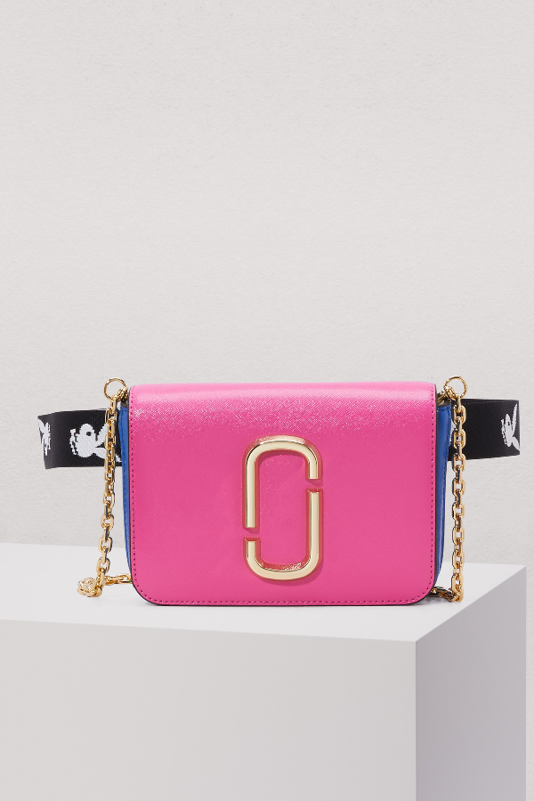 4ab12ceed34f Marc Jacobs Saffiano Leather Hip Shot Convertible Shoulder Belt Bag In  Vivid Pink Multi