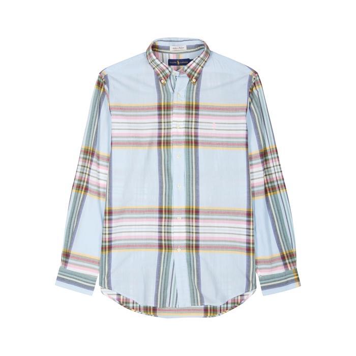 Polo Ralph Lauren Blue Checked Cotton Shirt
