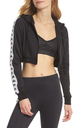 fa3dda82ae8 Kappa Banda Crop Jacket In Black/ White | ModeSens