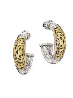 Konstantino Sterling Silver & 18K Yellow Gold Hoop Post Earrings