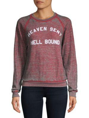 Wildfox Heaven Sent Sweatshirt In Heather Red