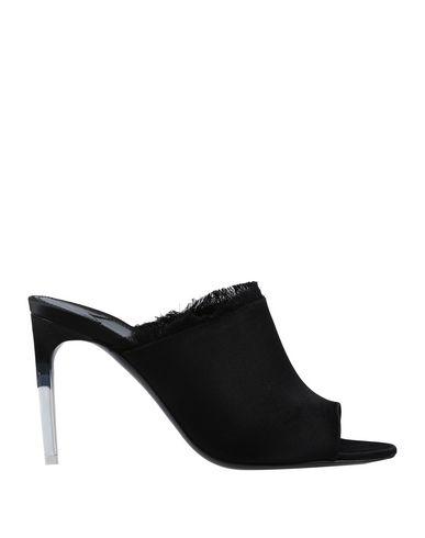 Tom Ford Fringed Satin Slide Sandal In Black