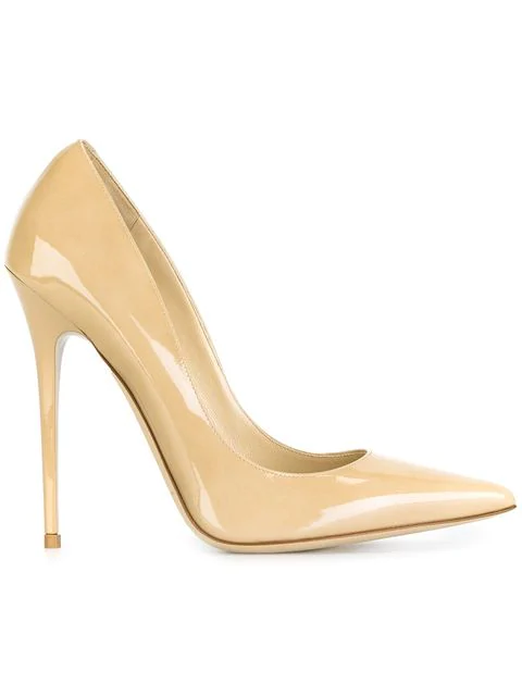 Jimmy Choo Anouk 120 Patent Pointy In Neutrals