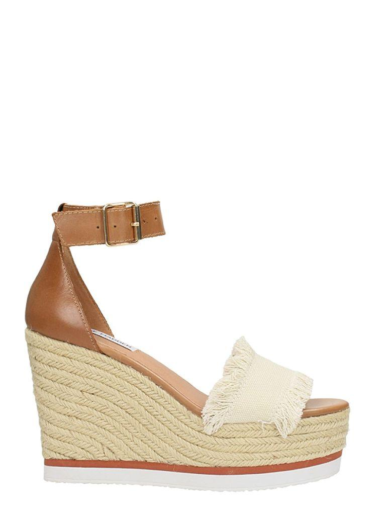 2913cbec3aa Steve Madden Brown Leather Valley Wedge Sandal In Leather Color ...