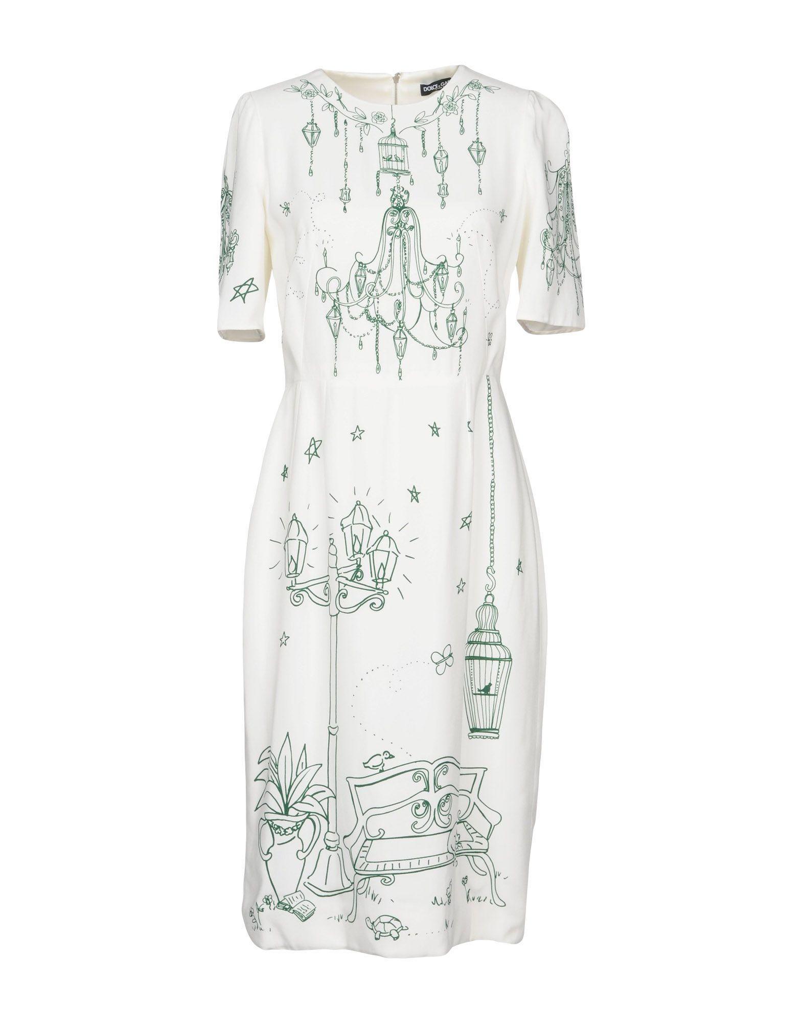 Dolce & Gabbana Knee-Length Dress In White