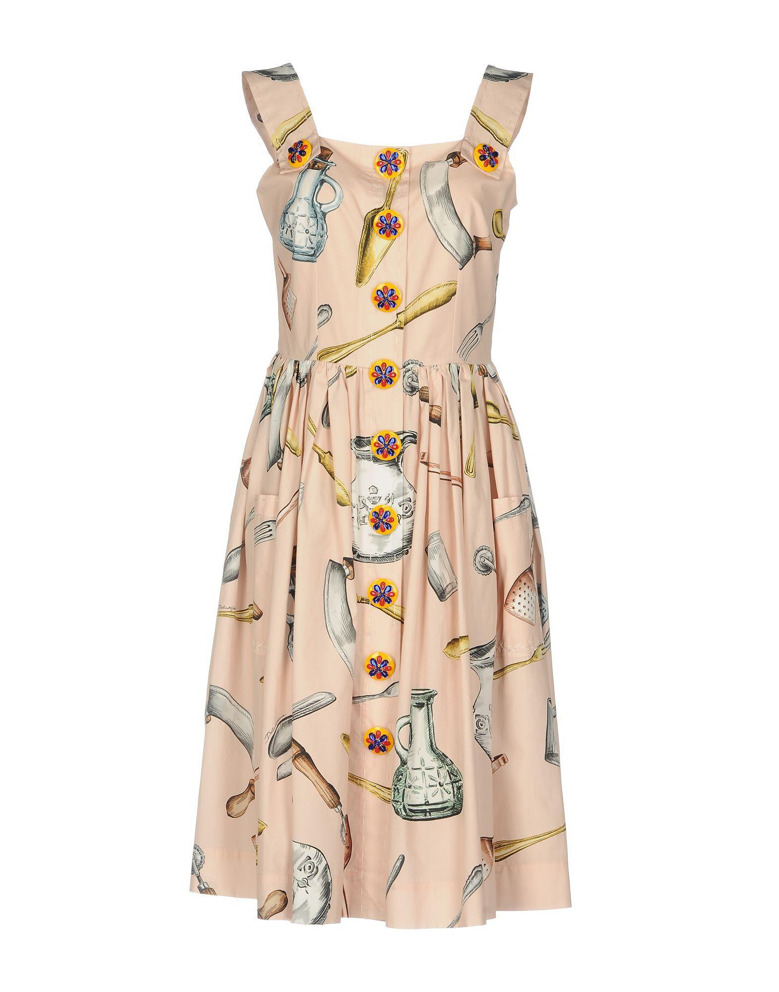 Dolce & Gabbana Knee-Length Dresses In Light Pink