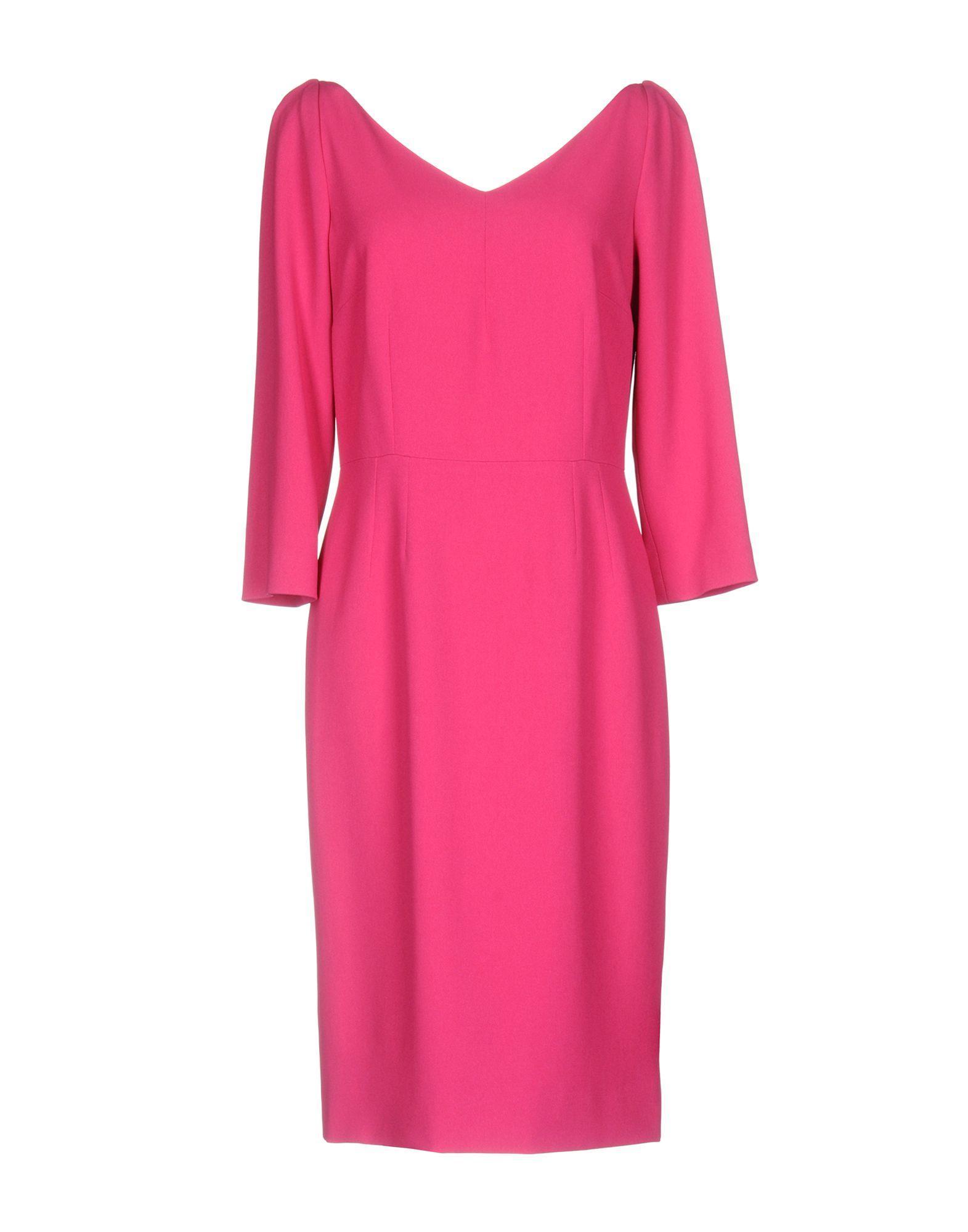 Dolce & Gabbana Knee-Length Dress In Fuchsia