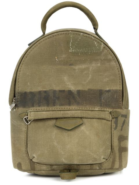 Readymade Army Style Mini Backpack In Green