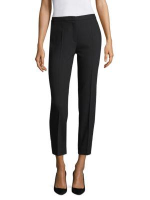 Escada Talaranto Classic Straight Leg Ankle Pants In Black