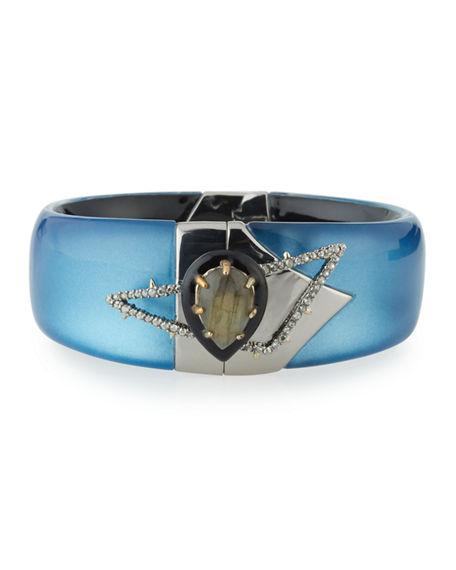 Alexis Bittar Lucite Medium Bangle Bracelet In Blue