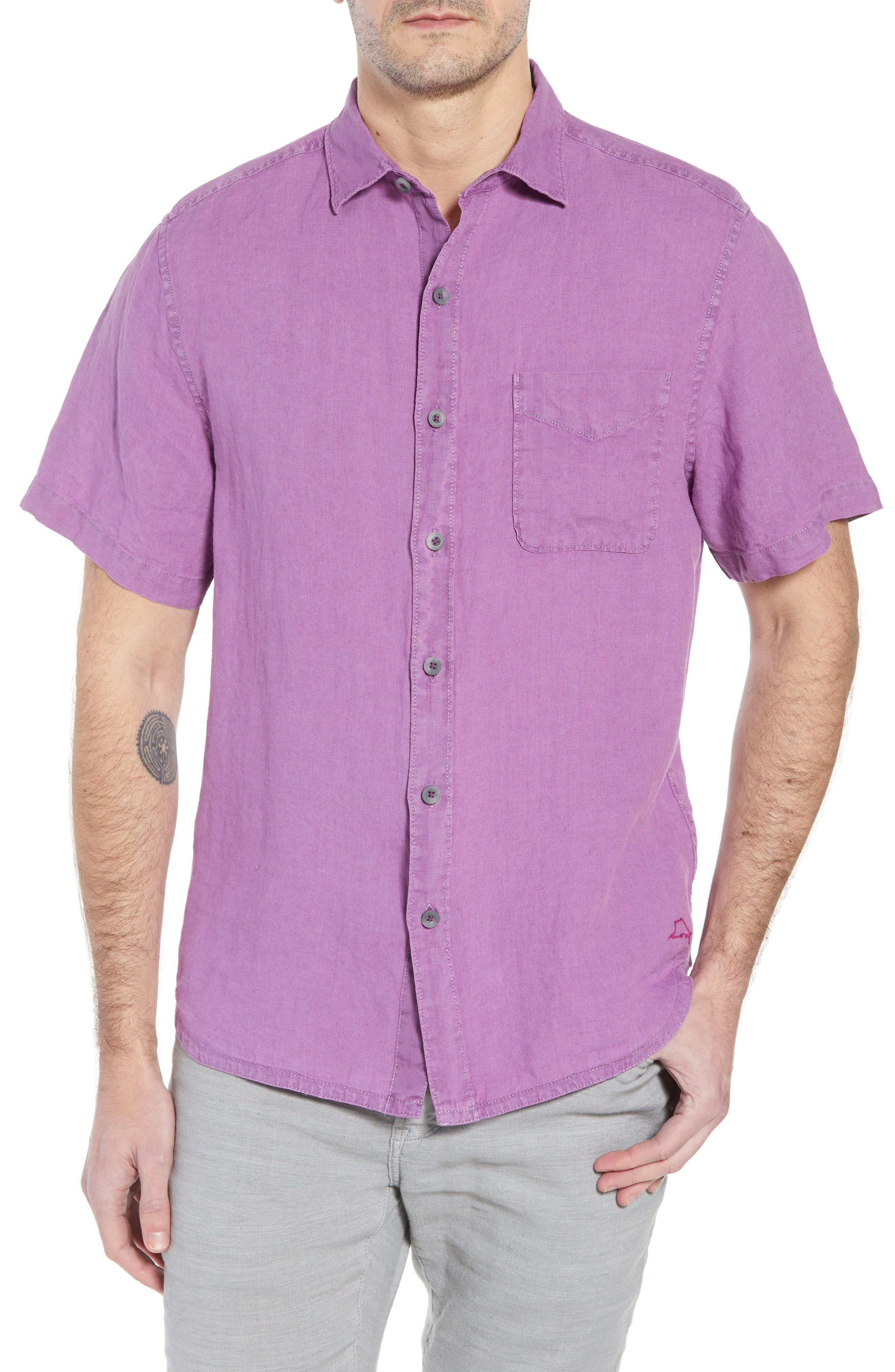 9ededd77 Tommy Bahama Seaspray Breezer Linen Sport Shirt In Sparkling Grape ...