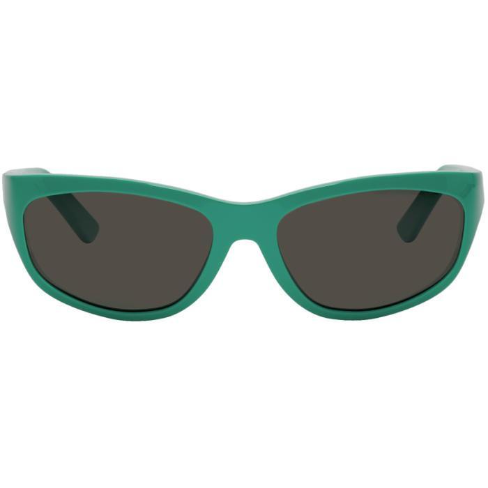 df6201f7d5a Acne Studios Bla Konst Green Lou Sunglasses In Turquoise