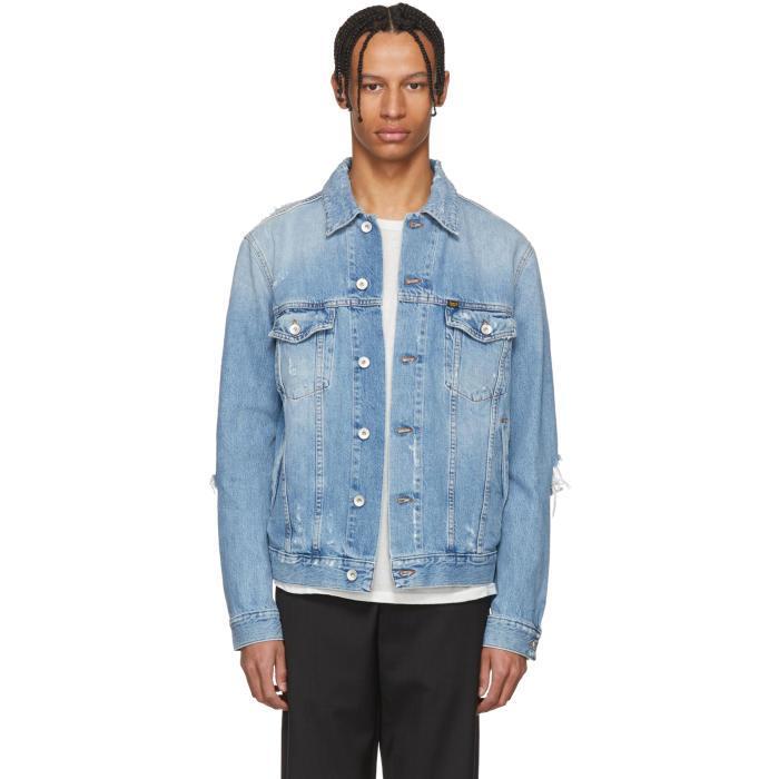 3cb4eaf9 Tiger Of Sweden Jeans Blue Denim Distressed Primal Jacket   ModeSens