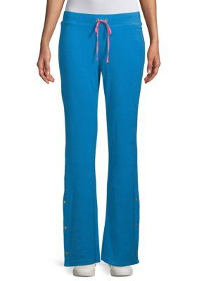96009c56653 Juicy Couture Black Label Del Rey Drawstring Tearaway Pants In Blue Aster