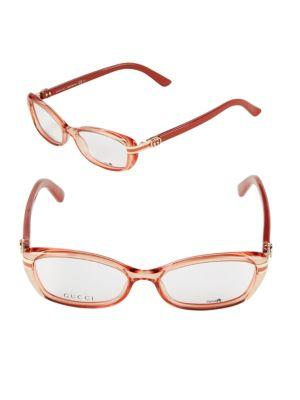 Gucci 52Mm Oval Optical Glasses In Starfish