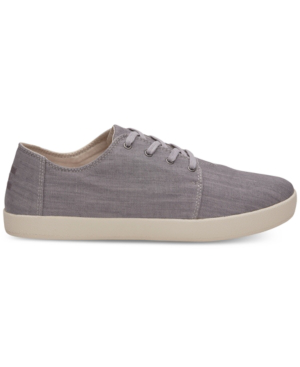 Toms Men's Payton Denim Lace Up Sneakers In Gray Denim