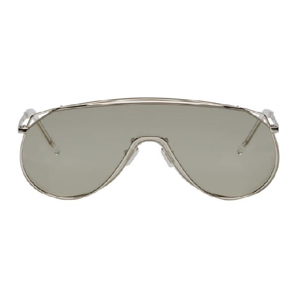Gentle Monster Silver Afix Sunglasses In 02(K) Silvr