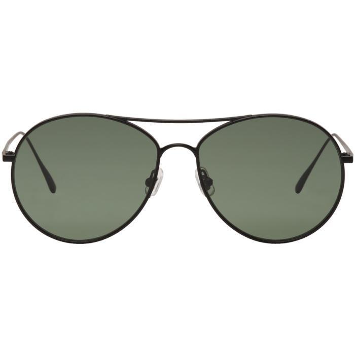 02ef17e89738 Gentle Monster Black And Green Ranny Ring Aviator Sunglasses
