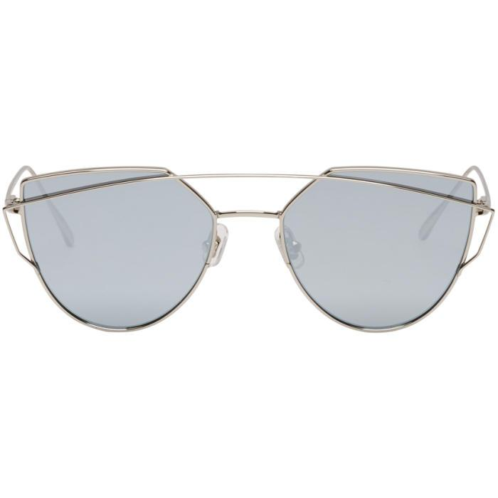 db379e83b492 Gentle Monster Silver And Blue Love Punch Sunglasses
