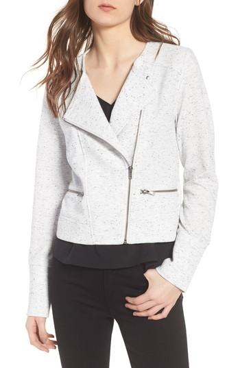 Cupcakes And Cashmere Algona Collarless Jacket In Ivory