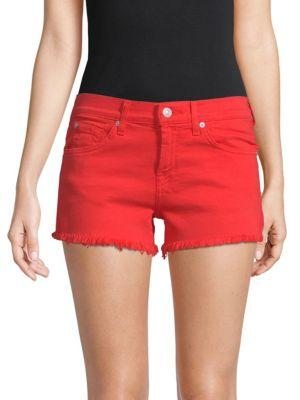 7 For All Mankind Cut Off Shorts In Poppy