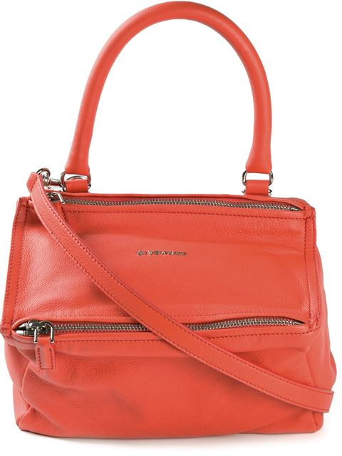 Givenchy Pandora Small Leather Crossbody Bag In Red