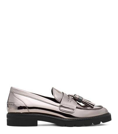 8ceb8116227 Stuart Weitzman The Manila Loafer In Iron Gray Specchio Leather ...