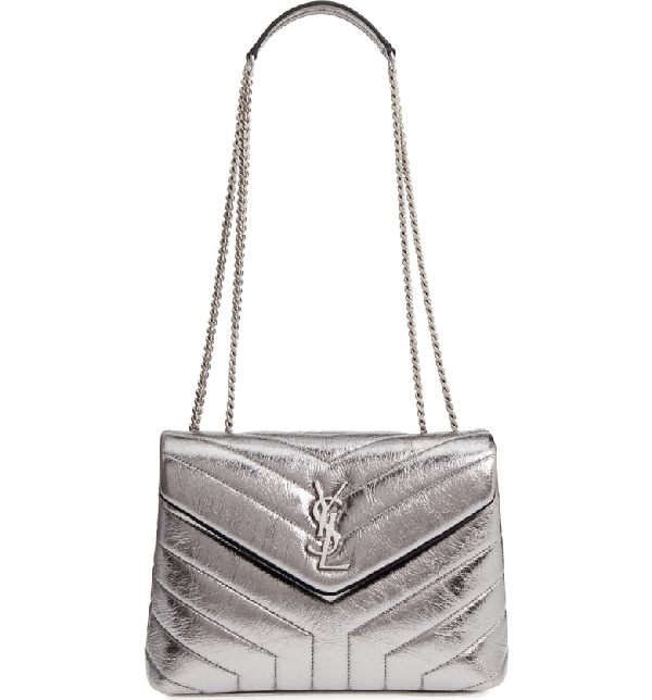 Saint Laurent Small Loulou Metallic Leather Shoulder Bag - Metallic In  Acciaio  Acciaio 1cc21d311c601