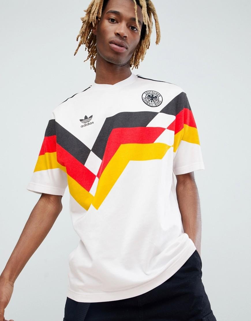 d416ad0f857 Adidas Originals Retro Germany Soccer Jersey In White Ce2343 - White ...