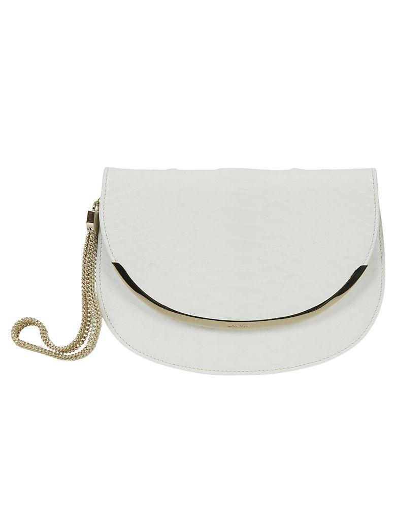 Lanvin Sourire Clutch In Optic White