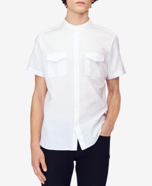 Calvin Klein Jeans Men's Banded Panama Weave Utility Shirt In Standard White