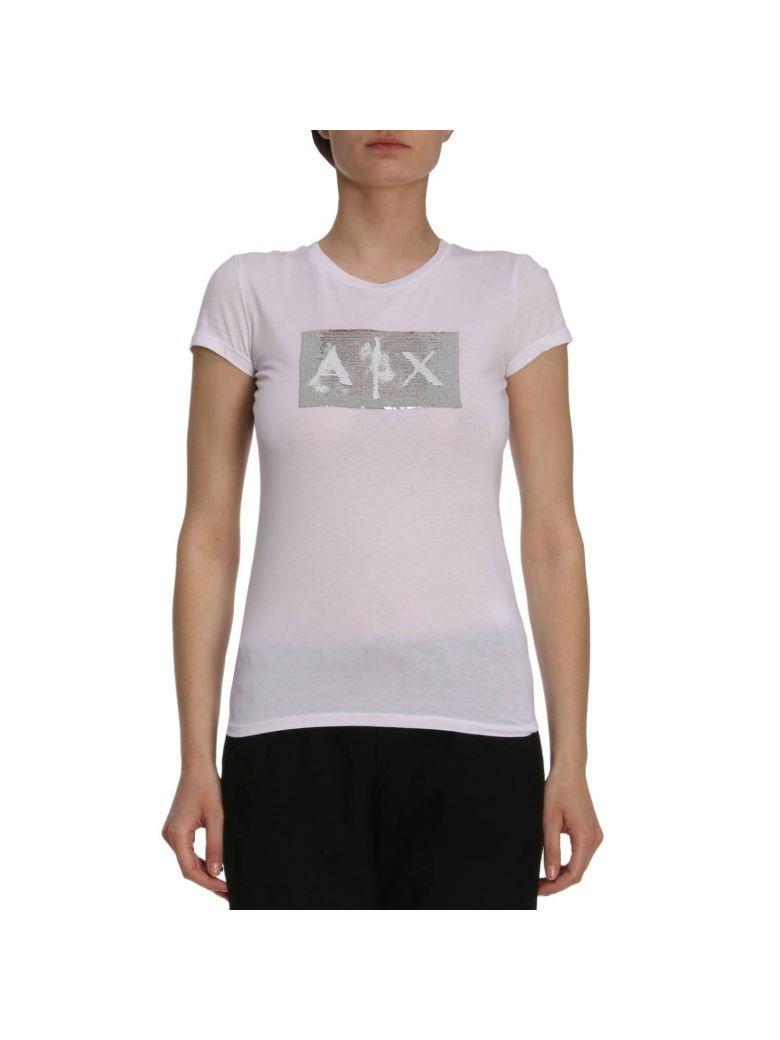 493367f6 Armani Collezioni T-Shirt T-Shirt Women Armani Exchange In White ...