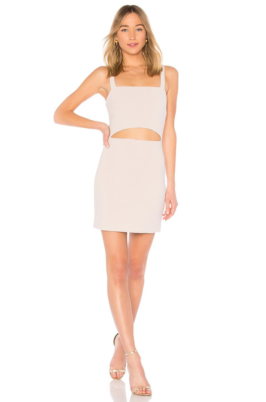 Bec & Bridge Macaron Mini Dress In Taupe