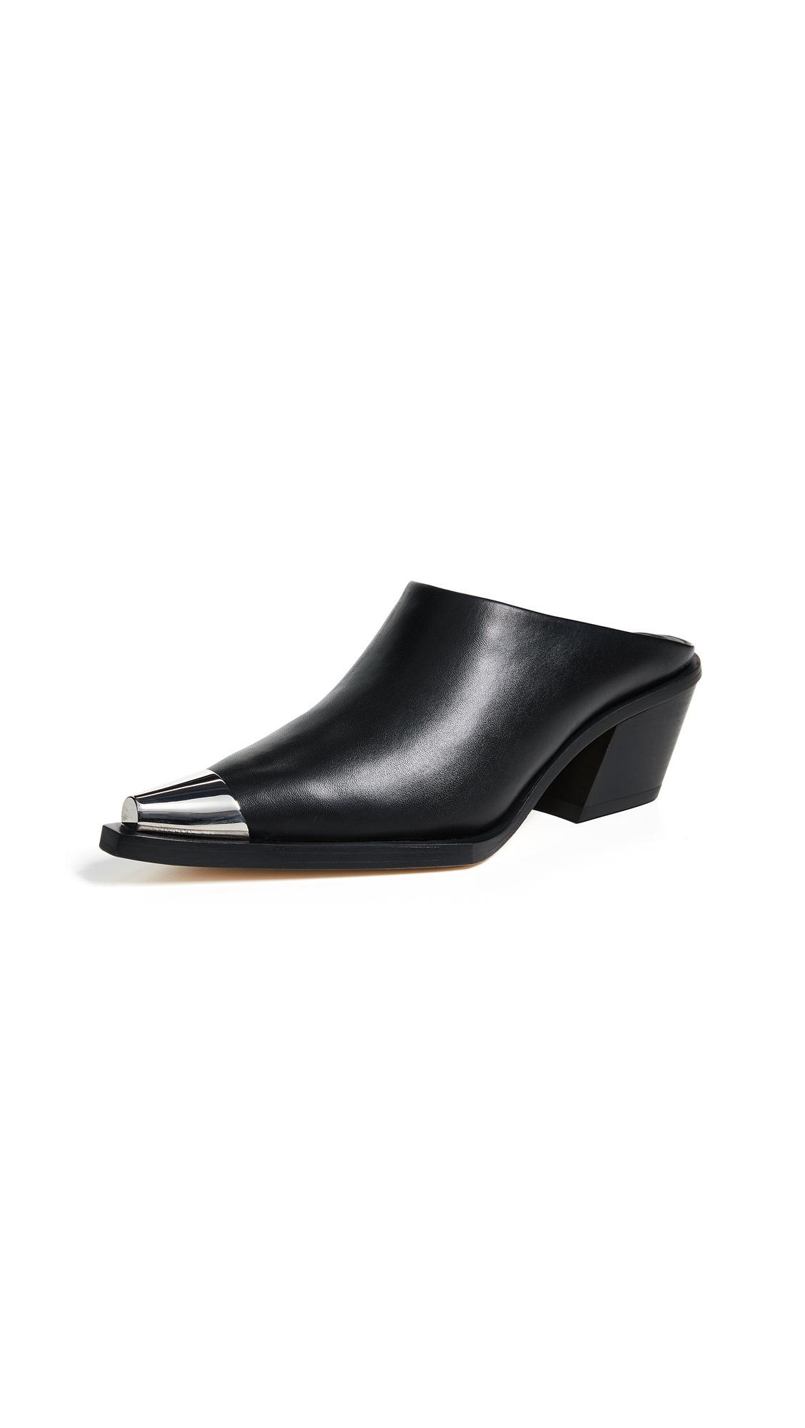 Helmut Lang Clean Mules In Black
