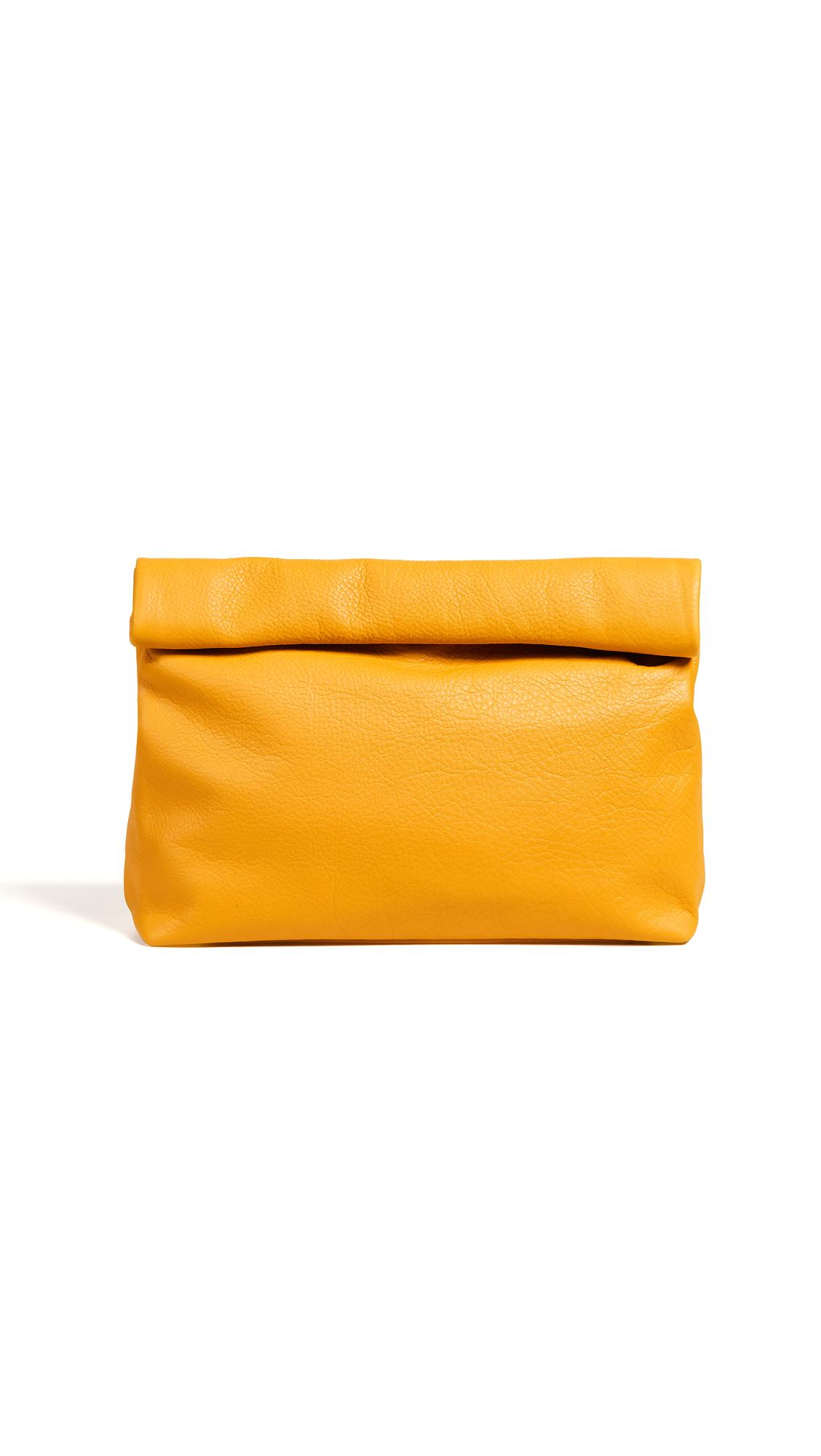 Marie Turnor Accessories The Lunch Clutch In Mustard