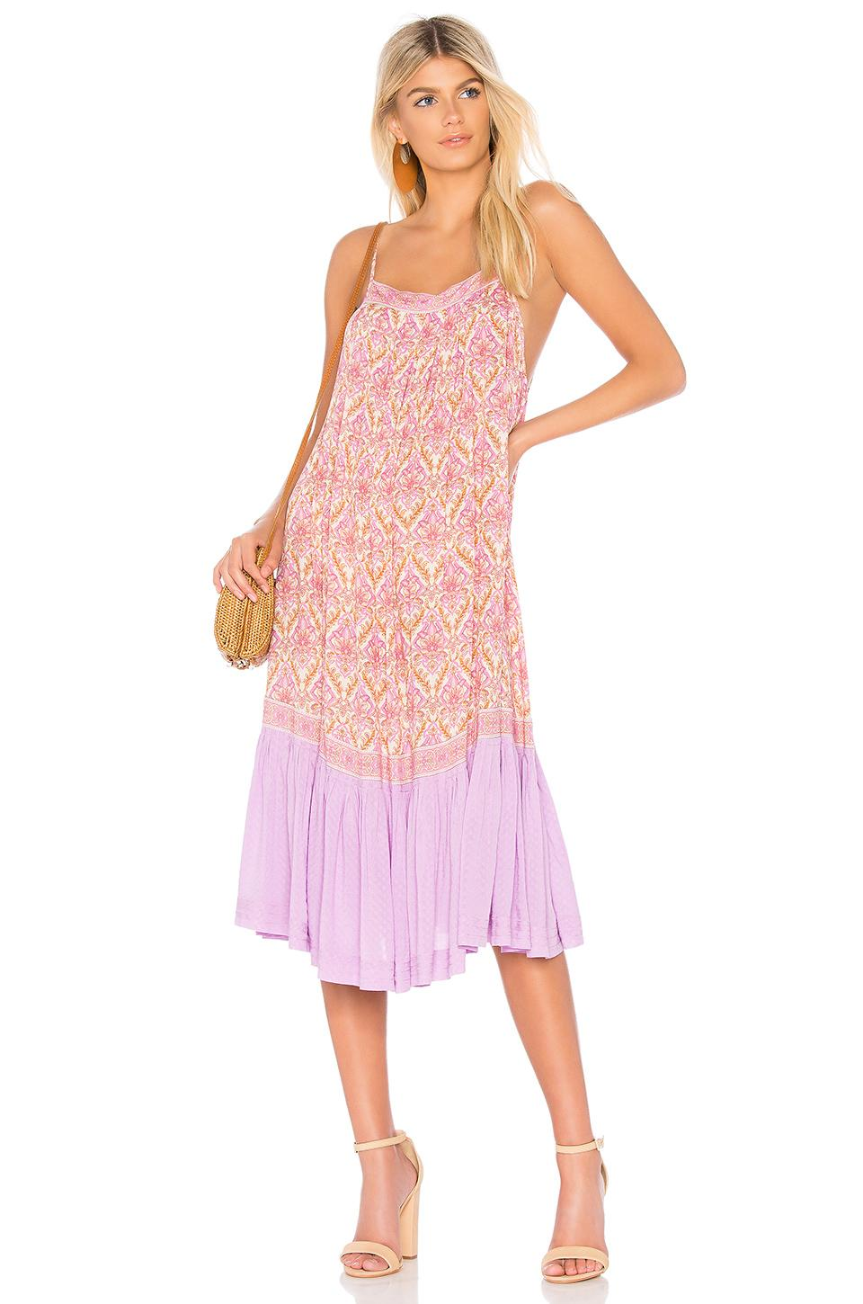Spell & The Gypsy Collective Jewel Strappy Dress In Pink