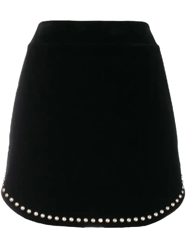 Studded Mytheresa Mytheresa Negro Negro Mytheresa Miniskirt Studded Miniskirt Velvet Miniskirt Velvet Velvet Studded byfvYg76